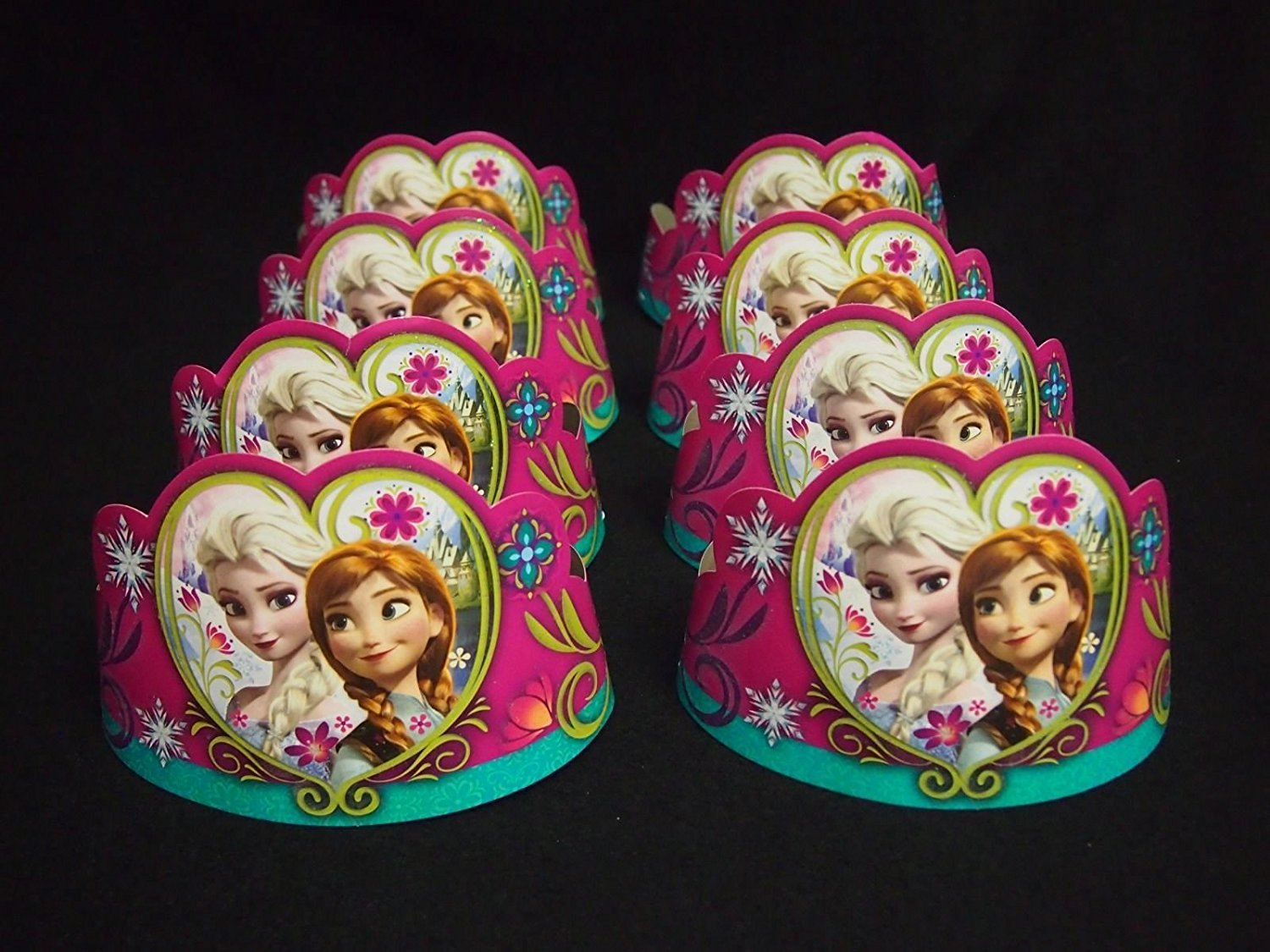 Disney Princess Anna Tiaras 8ct Birthday Hats Crowns Favors Prizes Decor
