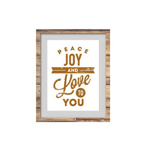 Wholesale letter Style canvas or paper painting wall art with P S frame art