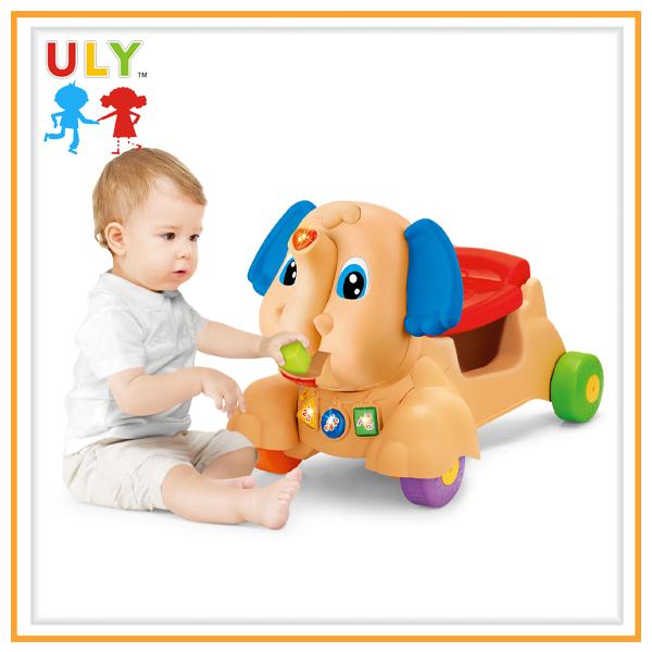 a60a8d25b081 2 In 1 Cartoon Elephant Baby Ride On Car Baby Trolley Walker - Buy ...