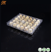 Chinese factory supply plastic quail egg cartons, disposable egg crates with 30 cells