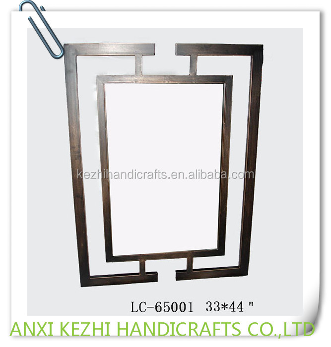 Lc 65001 rechthoek decoratieve metalen frame muur spiegel buy product on - Metalen spiegel ...