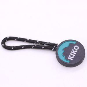 Custom silicone rubber plastic zipper pull puller slider for garment and bags