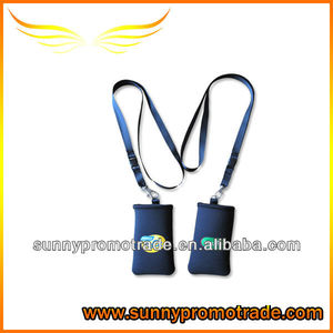 Neoprene phone holder/sleeve with your LOGO with lanyard