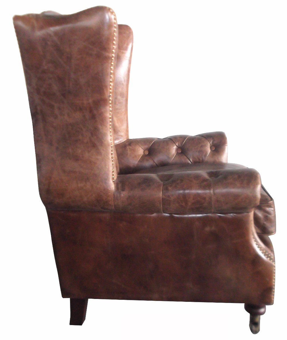 Retro Leather Chesterfield Chair Armchair For Sale Buy