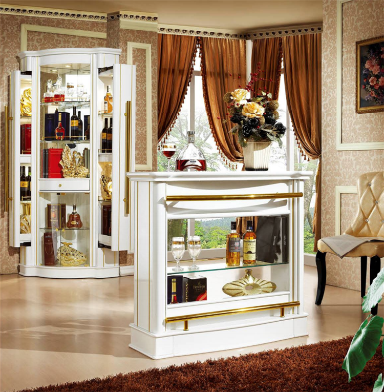 Wood Home Bar Furniture: Wholesale Spanish Style Wood Mini Corner Design Home Bar
