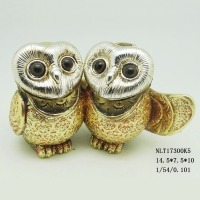 Resin night owl figures miniature figurine for home decoration
