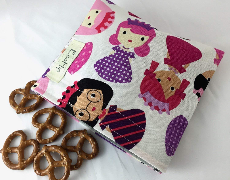 Reusable Snack Bag Eco Friendly - Princess Pink