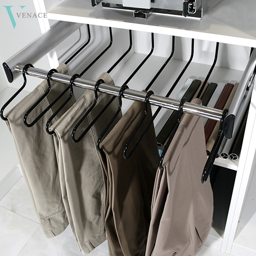 Modern Adjule Wardrobe Pull Out Trouser Rack Pants Closet Accessories