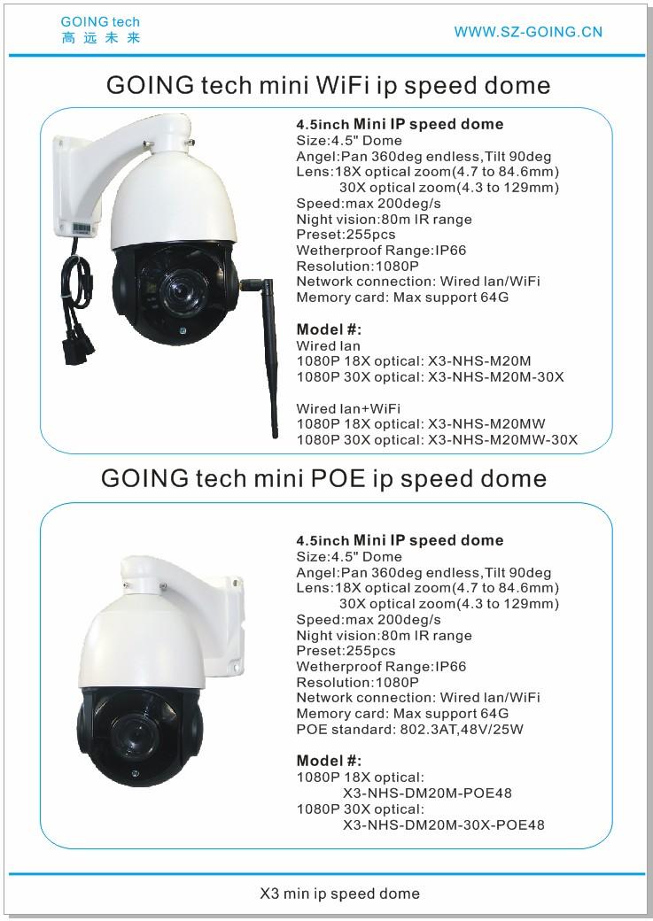 Going Tech 1080p Mini Wifi Wireless Ptz Ip Outdoor Ir Speed Dome Camera 18x  30x Optical Zoom 64gb - Buy Ip Camera Ptz 128gb Wifi,20x Optical Zoom Ptz