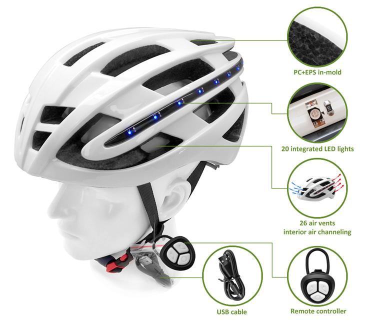 LED bike helmet AU-R6 Details 7