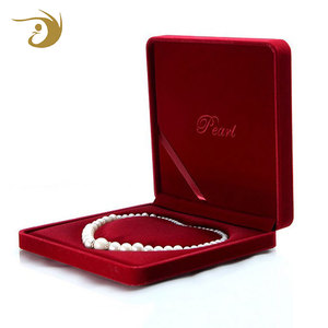 Latest Top Designs Cheap Price Luxury Red Fancy Pearl Jewelry Box