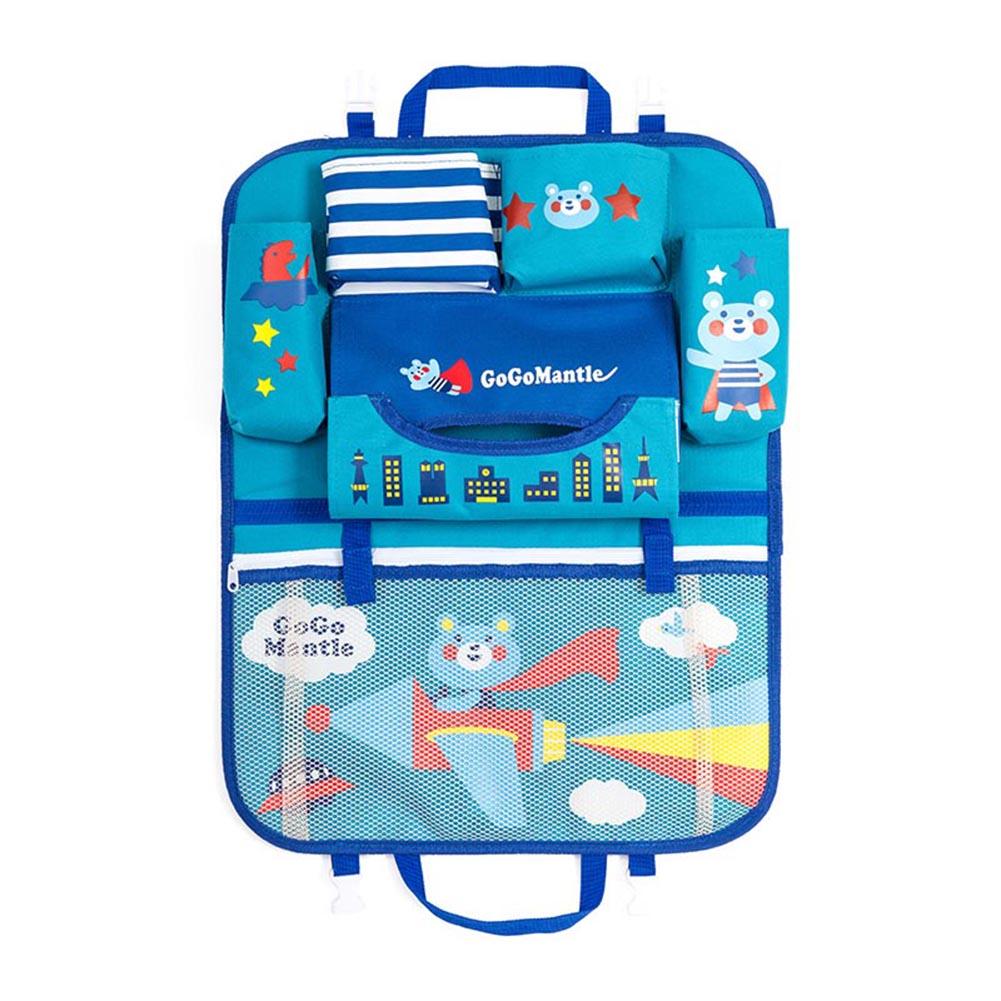 Универсальная сумка для хранения в багажник автомобиля бутылка-органайзер подстаканник для еды для телефона сетчатый карман на заднем сид...(Китай)