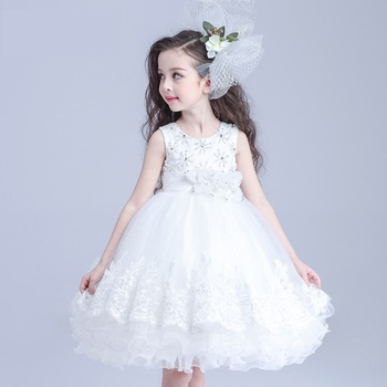 Kids Fashion Show Dresses White Prom Dresses Modern Girls Dress