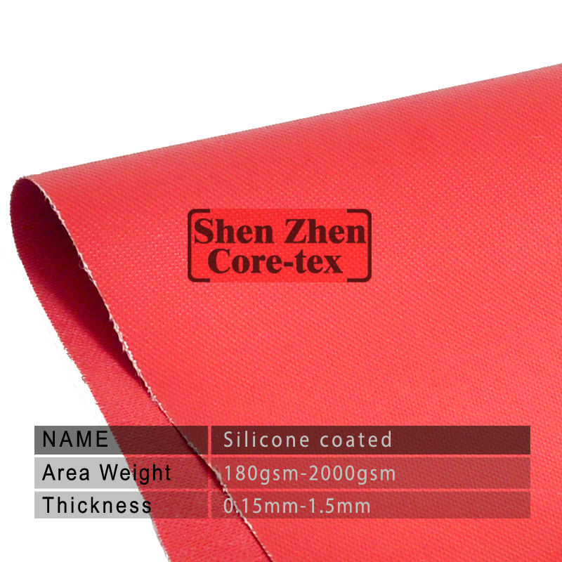 hot sale thermal insulation double side red silicone coated fabric