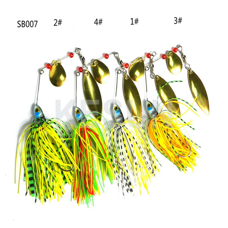 CH14LP3 metal fishing lure for bass fishing spinner baits