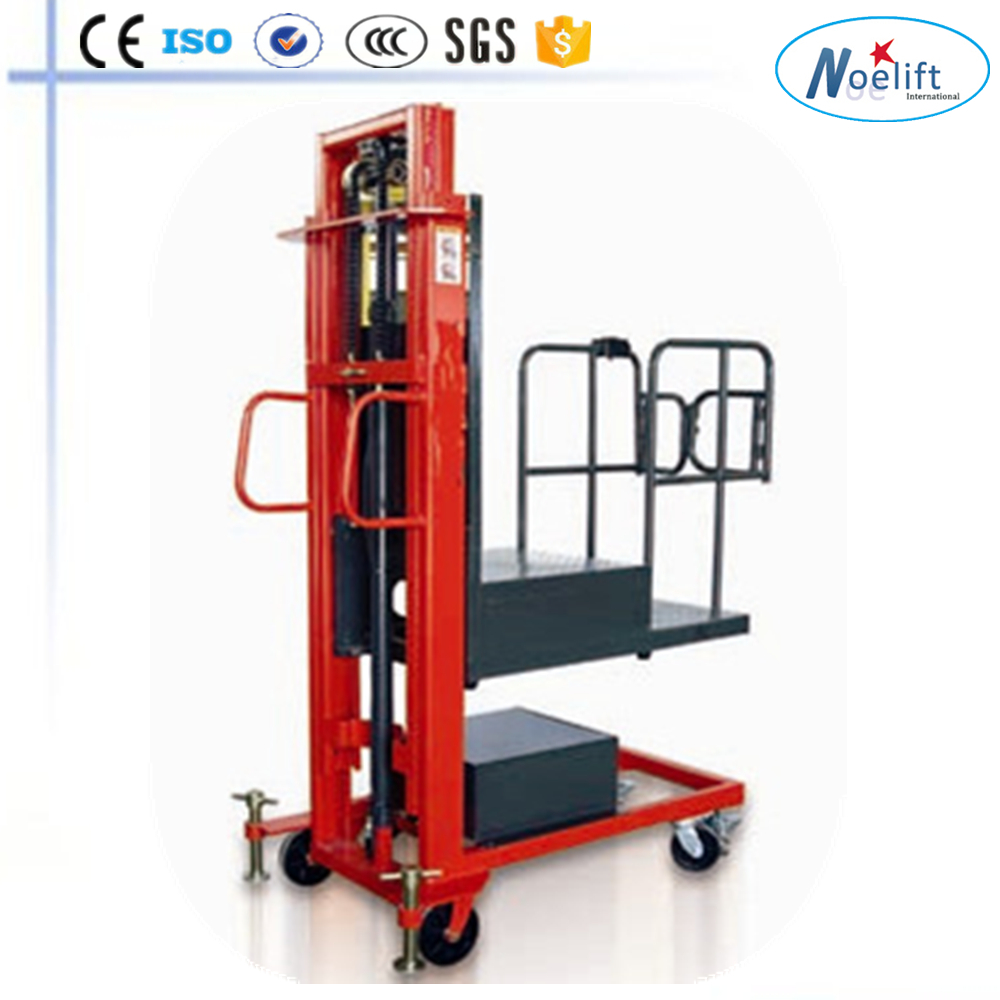 gruas horquillas nuevo 300 kg semi-electric self-load order picker forklift
