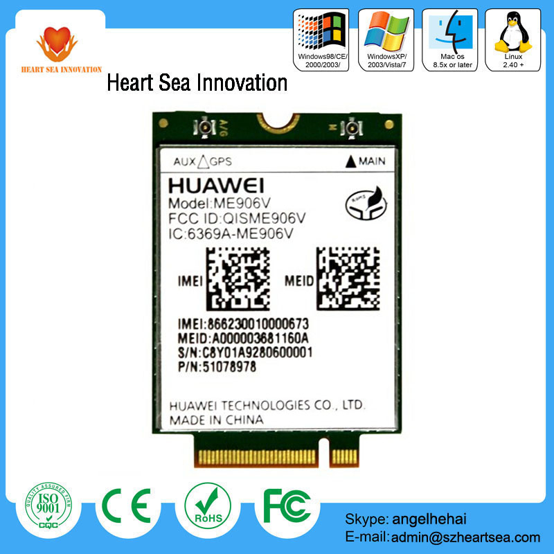 Newest GPRS/EDGE HUAWEI ME906V M2M with NGFF interface 4G LTE Module