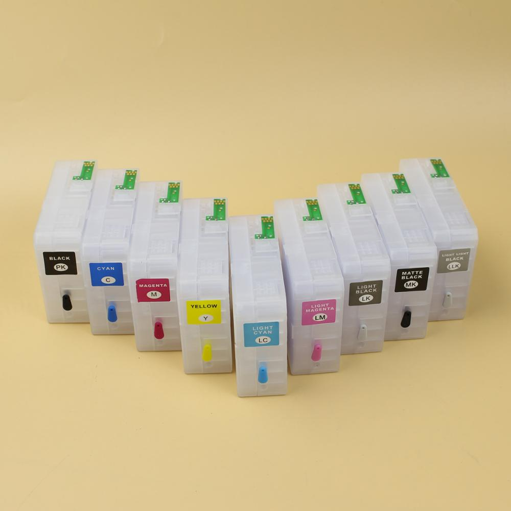 Hot sale ! 9 colors refillable cartridge for Epson Stylus Pro 3800 3850 3880 3885 3890 printer