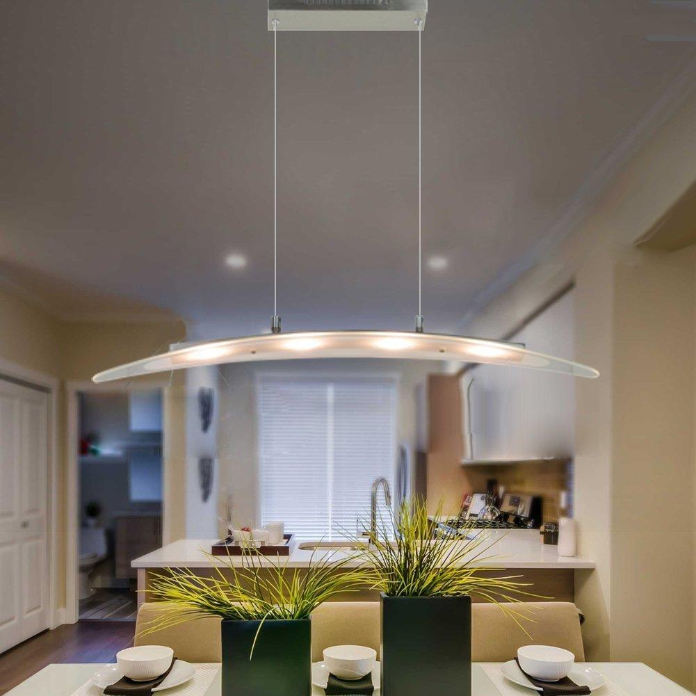 Led pendant light with adjustable heightchrome finished chandelier ceiling light fixture for dining room kitchen island living room restaurant office