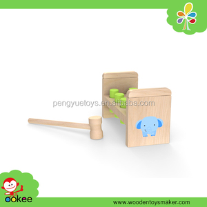 Wholesale educational custom high quality wooden natural pounding bench with hammer , new toys for kid 2016