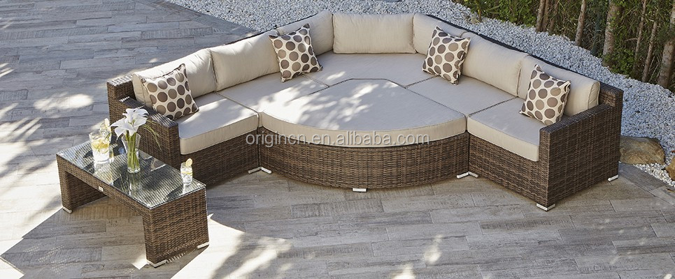 New Arrival Versatile Patio Wicker Lounge Sectional Rattan ...
