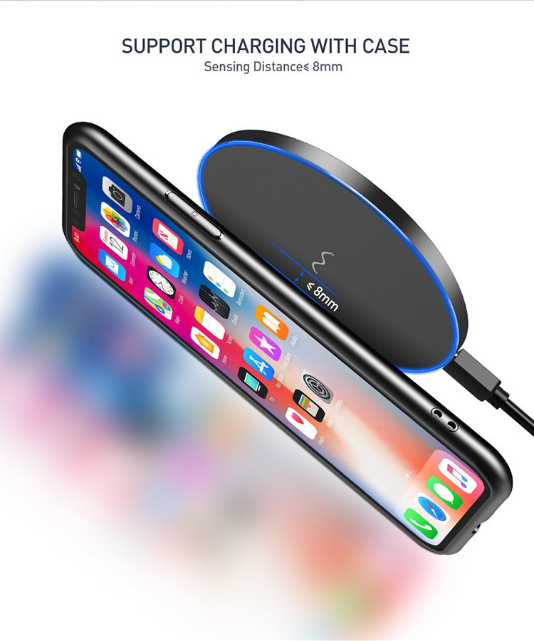 Clearance Universal Mobile Phone Devices Ultra Slim 10W QI Wireless Charging Charger Pad for iPhone