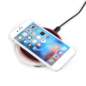 Custom Universal Clear Crystal LED 5W Qi fast Wireless Charger Cell Phone Wireless car Charger For iPhone