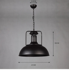 Modern Pendant Light Vintage Industrial Lamp Round Metal