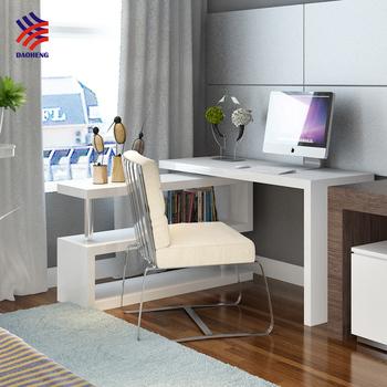 T Corner L Shaped Student Folding Adjustable Computer Study Table Desk