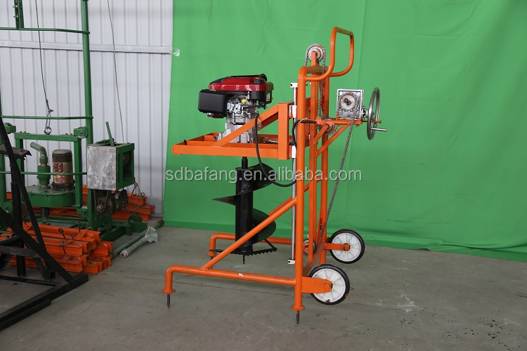 Hand-propelled  Portable 10HP Strong Power Digging Machine