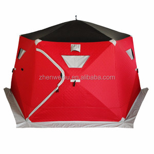 V1560 High quality triple-layer fabric canopy winter camping tent fishing