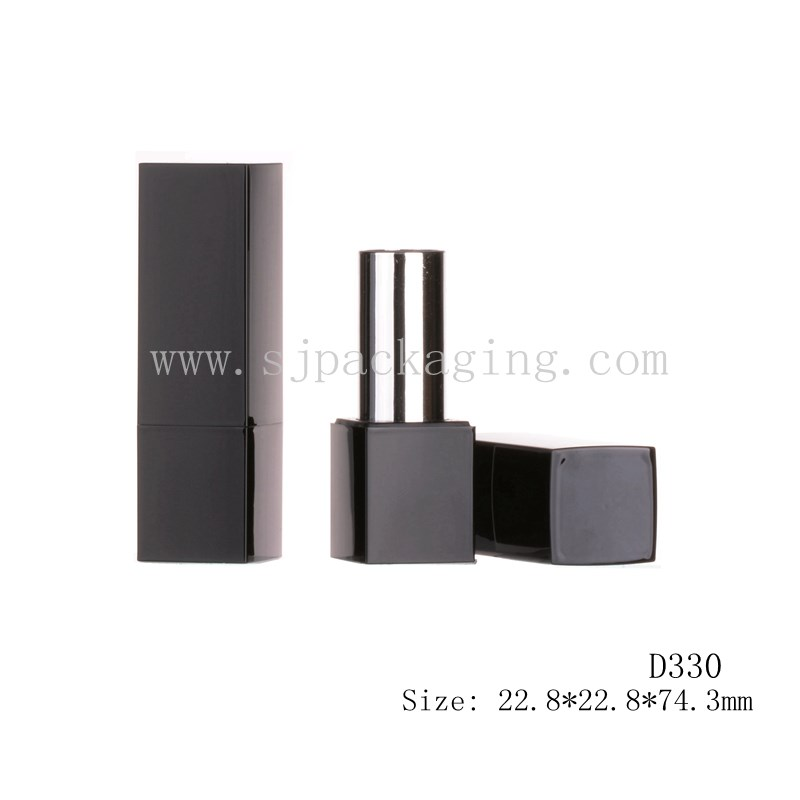 Magnet Black Color Square Lipstick Tube
