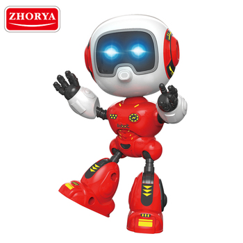 Zhorya Alloy metal toy educational dancing robot with light music