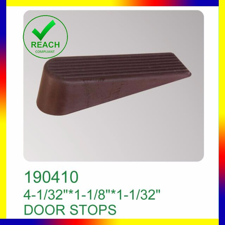 door stopper hardware heavy duty rubber door wedge brown