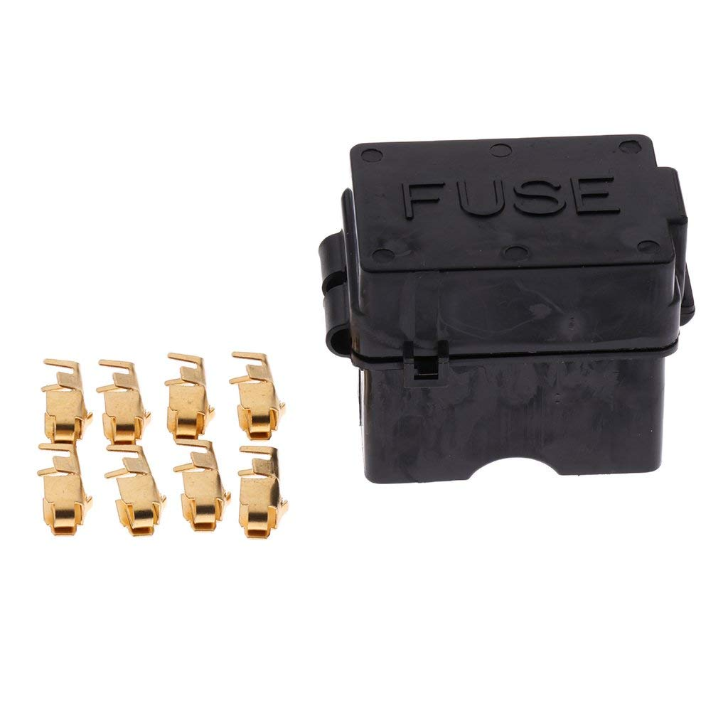 Jili Online Fuse Block Holder Box Auto Car Boat 4-Ways Circuit ATC ATO Blade