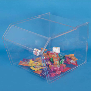 Clear Plexiglass Lucite Table Top Acrylic Display Case Food Cookie Candy Holder