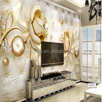 3d Perle Design Tapeten Salon Dekoration Wandbild Pvc Material Tapete - Buy  3d Perle Design Tapeten,Salon Dekoration Wandbild,Raumdekoration Tapeten ...