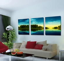 Stretched Canvas Art Beautiful Forest River Landscape Natural Art Painting