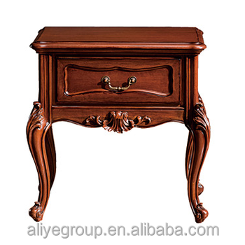 TYZW881 1  Fancy Wood Carving Bedroom Furniture Set Decorative Italian Night  Stand Antique Night