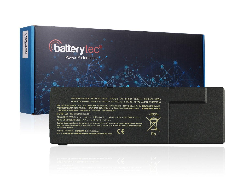 Batterytec® Laptop Battery for SONY VAIO VGP-BPL24 VGP-BPS24 VGP-BPSC24, SONY VAIO SA SB SC SD SE, SONY VAIO VPCSA VPCSB VPCSC VPCSE.[11.1V 4400mAh 1 Year Warranty]