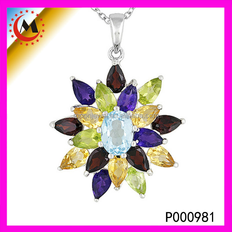 Wholesale Jewelry Fashion Cubic Zircon High Quality Colorful Costume Pendant