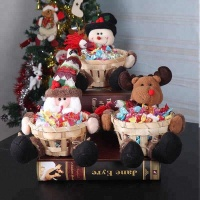 Factory directly hot Sale Decorative Christmas Small Bamboo Baskets for Christmas Candy