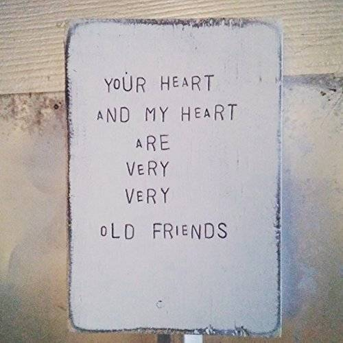 WiLDWoRDS - beautiful words on wood - Hafiz - YoUR HeaRT aND MY HeaRT aRe VeRY VeRY oLD FRieNDS - Solid wood art / art block