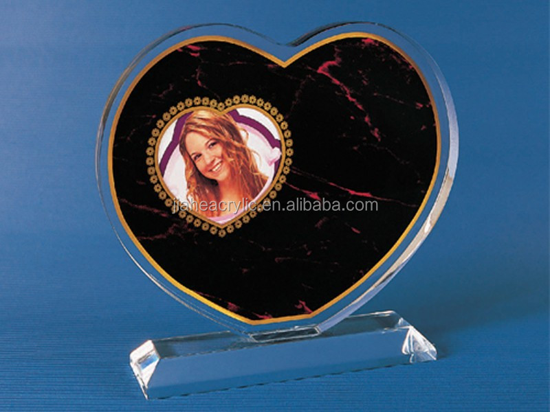 Wholesale Trade Assurance Heart shape clear acrylic picture photo frame