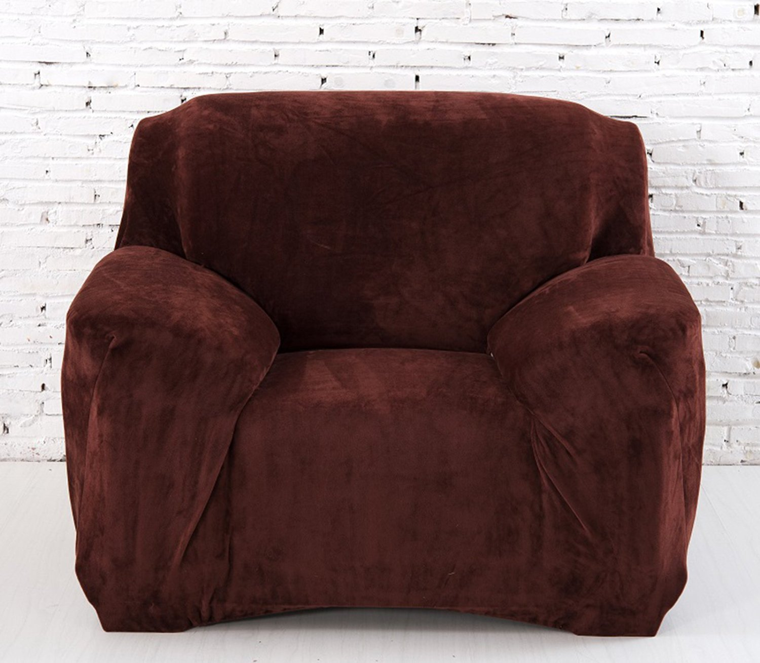 Get Quotations Prefe Microsuede Couch Sofa Furniture Slipcover With Elastic Band Under Seat Cushion