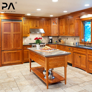 Ivory Integrated Kd Kitchen Cabinets Solid Wood Cabinetry