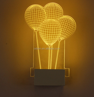 2016 novelty 3D wall sconce lamp