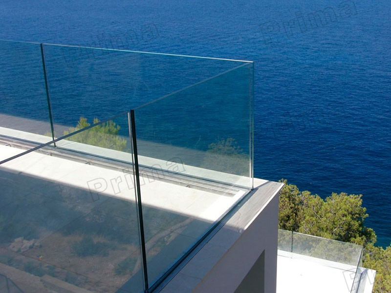 Balcony with glass railing - decoration house.