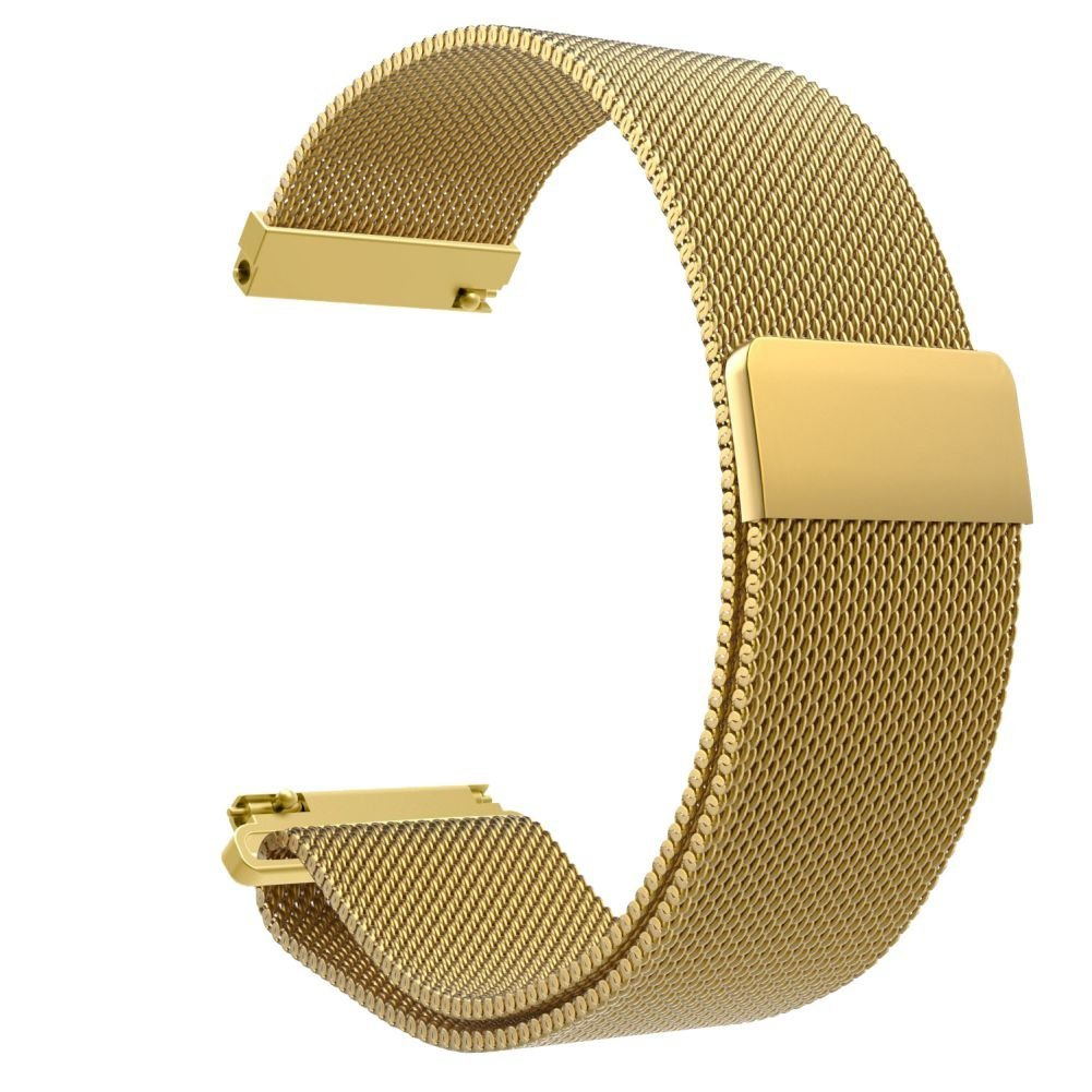 Zhengpin Fitbit Blaze Band Large (6.3-9.1 in), Premium  Milanese Loop Stainless Steel Bracelet Strap Band for Fitbit Blaze Smart Fitness Watch, Large (Gold)
