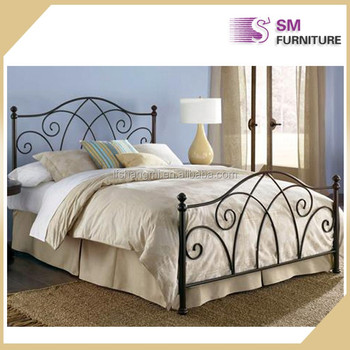 Bedroom furniture canopy metal bed frames used cheap price for Making a canopy bed frame